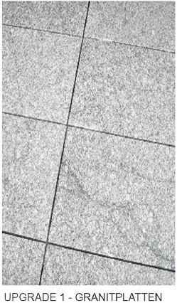 Upgrade:  Granitplatten